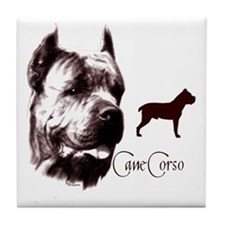 cane corso dog Tile Coaster