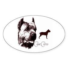 cane corso dog Oval Decal
