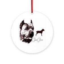 cane corso dog Ornament (Round)