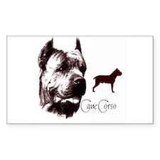 cane corso dog Rectangle Decal