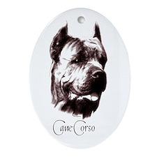 cane corso dog Oval Ornament