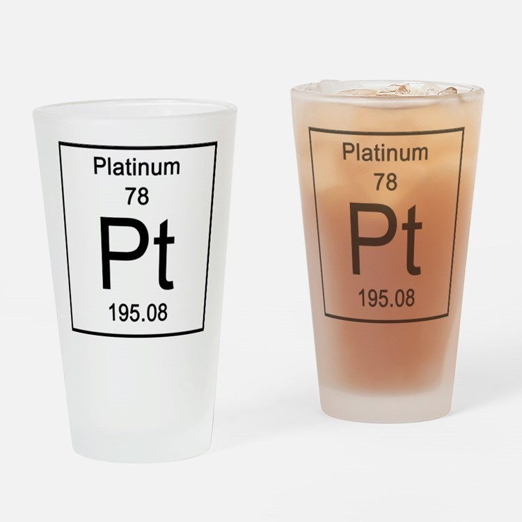 78. Platinum Drinking Glass