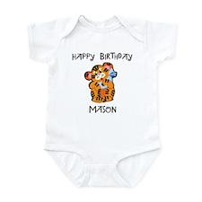 Happy Birthday Mason (tiger) Infant Bodysuit
