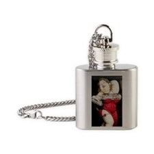 red retro bbw Flask Necklace