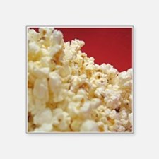 "Cute Popcorn Square Sticker 3"" x 3"""