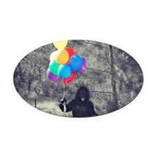 Cute Big foot Oval Car Magnet