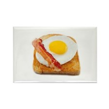 Cute Bacon eggs Rectangle Magnet
