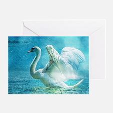 Cute Swan lake photo Greeting Card