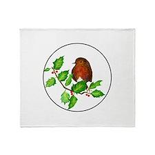 Robin Bird, Robin Redbreast, Waterco Throw Blanket