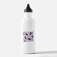 Snow Scottie Water Bottle
