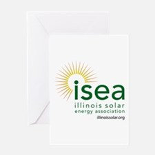 ISEA Logo for white with website Greeting Cards