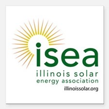 ISEA Logo for white with website Square Car Magnet
