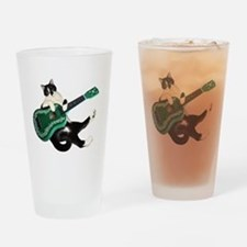 Cat Ukulele Drinking Glass