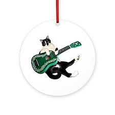 Cat Ukulele Ornament (Round)