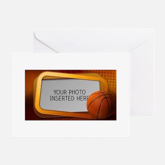 Basketball Window L Greeting Card