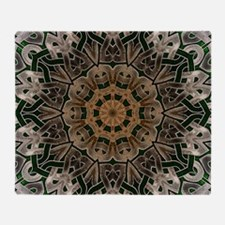 Stone Celtic Knot Kaleidoscope Throw Blanket