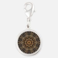 Stone Celtic Knot Kaleidoscope Silver Round Charm