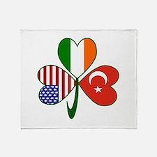 Shamrock of Turkey Throw Blanket