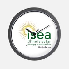 ISEA Logo for white with website Wall Clock