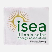 ISEA Logo for white with website Throw Blanket