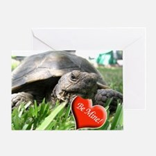 Helaine's Desert Tortoise Val Greeting Card