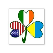 "Shamrock of Ukraine Square Sticker 3"" x 3"""