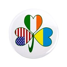 """Shamrock of Ukraine 3.5"""" Button (100 pack)"""