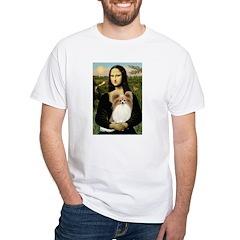 Mona's Papillon White T-Shirt