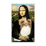 Mona's Papillon Sticker (Rectangle)