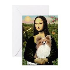 Mona's Papillon Greeting Card