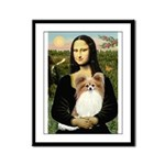 Mona's Papillon Framed Panel Print