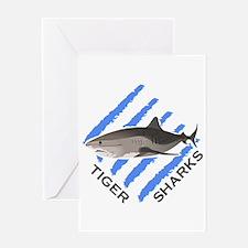 Tiger Sharks Greeting Cards