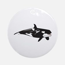 ORCA AND CALF Ornament (Round)