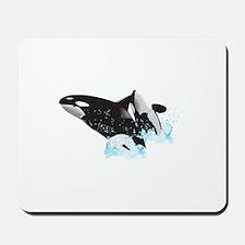 ORCAS BREACHING Mousepad