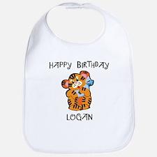 Happy Birthday Logan (tiger) Bib