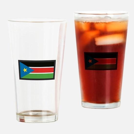 SOUTH SUDAN FLAG Drinking Glass