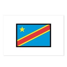CONGO DR FLAG Postcards (Package of 8)