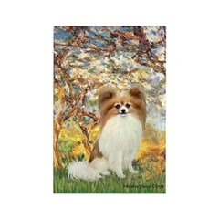 Spring / Papillon Rectangle Magnet (10 pack)