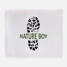 Nature Boy Throw Blanket