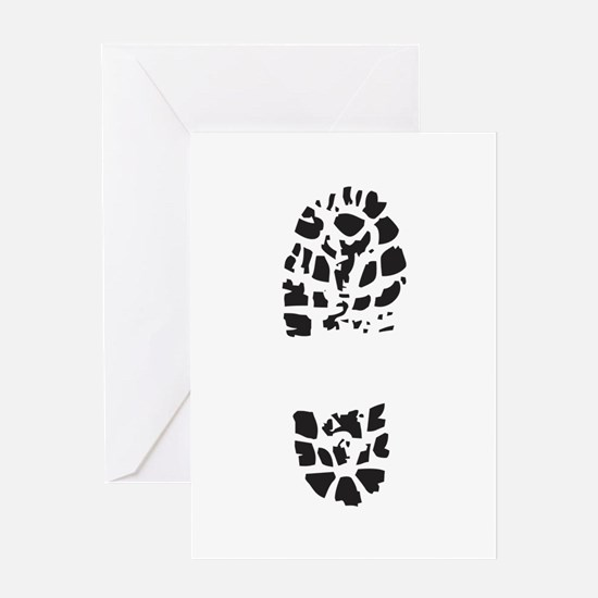 BOOT PRINT Greeting Cards