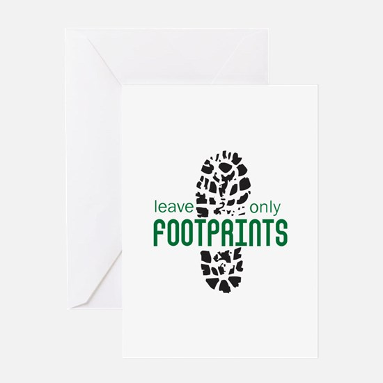 Foot Prints Greeting Cards