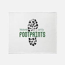 Foot Prints Throw Blanket