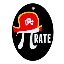 Pi-Rate Ornament (Oval)