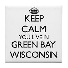 Keep calm you live in Green Bay Wisco Tile Coaster