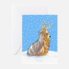 Yorkie Reindeer Greeting Cards (Pk of 20)