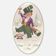 Vintage Happy St. Patrick's Day Decal