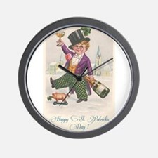 Vintage Happy St. Patrick's Day Wall Clock