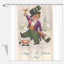 Vintage Happy St. Patrick's Day Shower Curtain