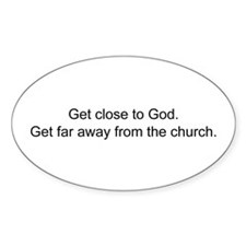 Funny anti-church Decal