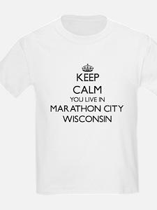Keep calm you live in Marathon City Wiscon T-Shirt